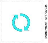 rotation arrows outline vector...