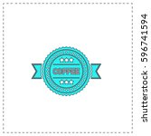 coffee label outline vector...