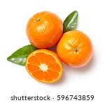 Fresh Clementines Isolated On...