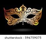 illustration with venetian...   Shutterstock .eps vector #596759075