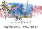 Spring In New York. Watercolor...
