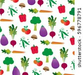 vegetable pattern | Shutterstock .eps vector #596778791