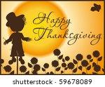 Thanksgiving Card   Silhouette...
