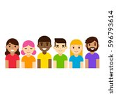 diverse group of people in lgbt ... | Shutterstock .eps vector #596793614