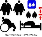 set of symbols depicting... | Shutterstock .eps vector #59679856