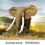 stuffed african  elephant | Shutterstock . vector #59680462