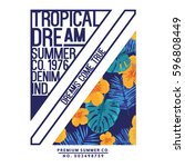 Summer Concept Tee Print Vecto...