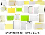 three slices of paper isolated... | Shutterstock . vector #59681176