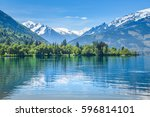 zell am see  snowy mountain... | Shutterstock . vector #596814101