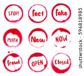common words collection of... | Shutterstock .eps vector #596818985