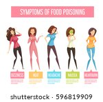 food poisoning signs and... | Shutterstock .eps vector #596819909