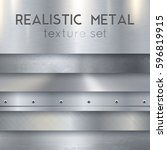 metal texture realistic sheets... | Shutterstock .eps vector #596819915