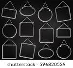 chalkboard style hanging frames ... | Shutterstock .eps vector #596820539