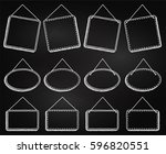 chalkboard style hanging frames ... | Shutterstock .eps vector #596820551