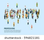 social people isometric... | Shutterstock .eps vector #596821181