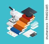 learning isometric design... | Shutterstock .eps vector #596821685