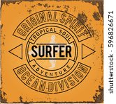 set of summer   surfing design  ...   Shutterstock .eps vector #596826671