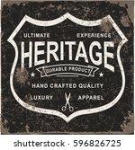 vintage label vector | Shutterstock .eps vector #596826725