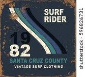 set of summer   surfing design  ... | Shutterstock .eps vector #596826731