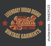vintage typography emblem  t... | Shutterstock .eps vector #596829125