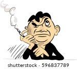 smoking and thinking   vector...