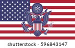 great seal of the usa | Shutterstock .eps vector #596843147