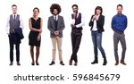 group full body people | Shutterstock . vector #596845679