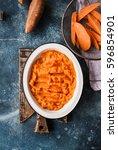 sweet potato pie with beef... | Shutterstock . vector #596854901