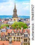 cityscape of oxford.... | Shutterstock . vector #596855927