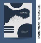 creative grunge texture booklet.... | Shutterstock .eps vector #596859881
