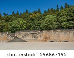 view of the 18th century... | Shutterstock . vector #596867195