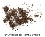 pile of soil isolated on white... | Shutterstock . vector #596869595