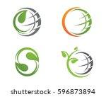 tree leaf vector logo design ... | Shutterstock .eps vector #596873894
