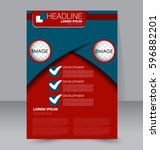 business brochure template.... | Shutterstock .eps vector #596882201