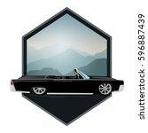 retro car cabriolete | Shutterstock .eps vector #596887439