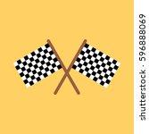 racing flag icon | Shutterstock .eps vector #596888069
