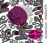 seamless scandinavian pattern... | Shutterstock . vector #596891579