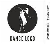 vector logo dance   Shutterstock .eps vector #596894894