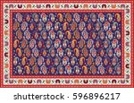 colorful mosaic oriental boteh... | Shutterstock .eps vector #596896217