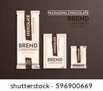design of chocolate packaging.... | Shutterstock .eps vector #596900669