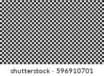 checkered racing flag isolated... | Shutterstock .eps vector #596910701