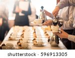 coffee break at conference... | Shutterstock . vector #596913305
