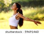 yoga woman | Shutterstock . vector #59691460