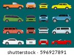 car vehicle transport type... | Shutterstock .eps vector #596927891