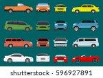 car vehicle transport type... | Shutterstock .eps vector #596927891