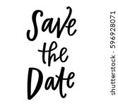 save the date | Shutterstock .eps vector #596928071