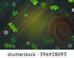 spring saint patrick's day ... | Shutterstock . vector #596928095