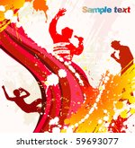 poster from rap party | Shutterstock .eps vector #59693077