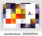 vector square minimalistic... | Shutterstock .eps vector #596930954
