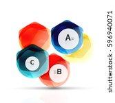 aqua glossy glass elements ... | Shutterstock .eps vector #596940071